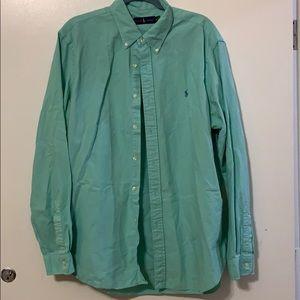 Teal Polo Ralph Lauren Button Down Shirt Size XL